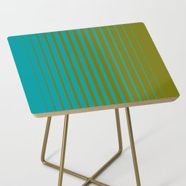 gradient stripes aqua olive Side Table
