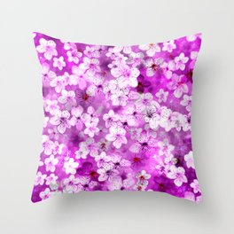 Beautiful Blossoms Throw Pillow