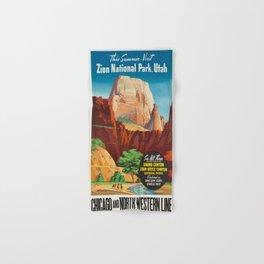Vintage poster - Zion National Park Hand & Bath Towel