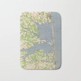 Vintage Rehoboth & Bethany Beach DE Map (1944) Bath Mat