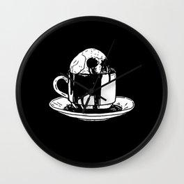 Skull Coffee Wall Clock
