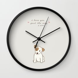Heart spotted jack Russell Terrier Dog Wall Clock