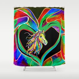 I HEART my HORSE! Shower Curtain