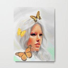 Fluttery 2 Metal Print