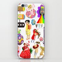 katamari iPhone & iPod Skins featuring Katamari Characters by Lil' UFO!