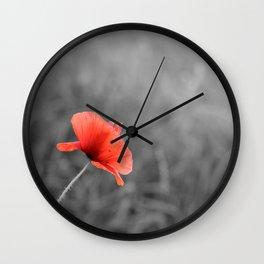 Poppy flower plant Wall Clock