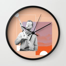 PJ with a Pipe Wall Clock