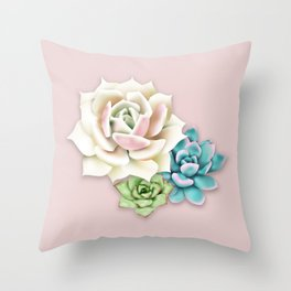 Succulent Arrangement Throw Pillow