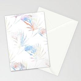 Palmetto Fronds Pattern Pastel Pink Blue Stationery Cards