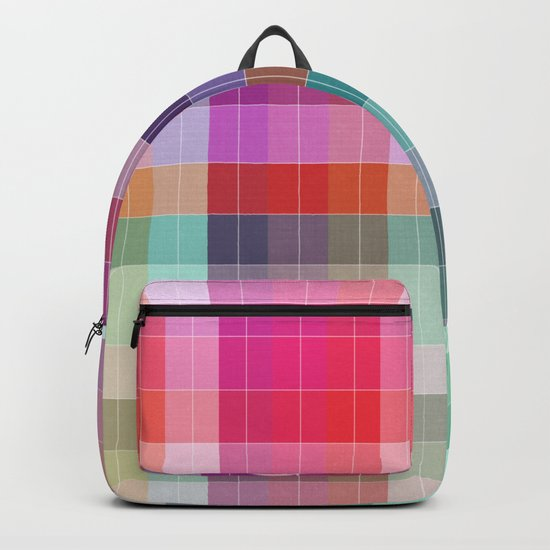 Bright Plaid Backpack