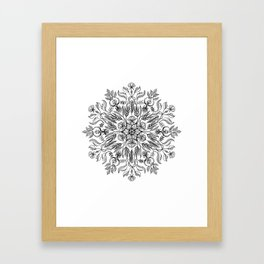 Thrive - Monochrome Mandala Framed Art Print