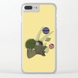 Playful Dinosaur Clear iPhone Case