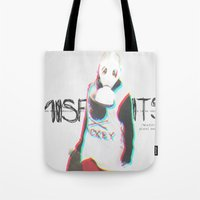 misfits Tote Bags featuring Misfits by SAH.
