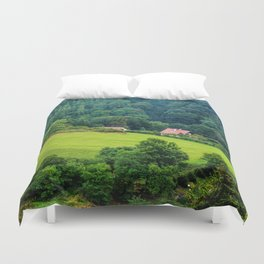 Green forest Duvet Cover
