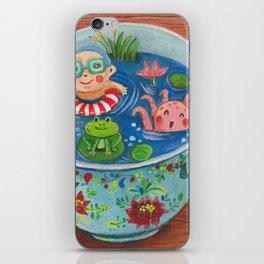 Teacup Bathers 01 iPhone Skin
