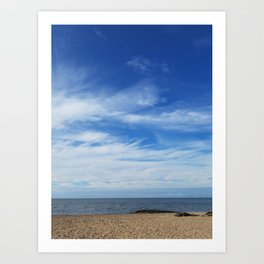 Sea and sky morning in Madison, Connecticut Art Print