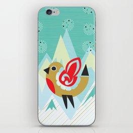 Festive Yule Snow Robin iPhone Skin