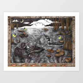 Loon Lake Art Print