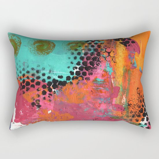 Original abstract painted artwork Rectangular Pillow