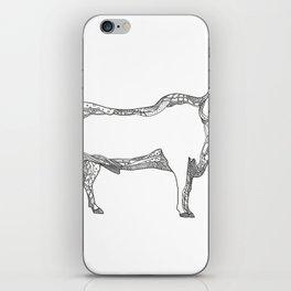 Brahman Bull Side Doodle Side iPhone Skin