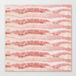 Bacon Strips Print Design Canvas Print
