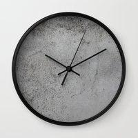 concrete Wall Clocks featuring Concrete by Coconuts & Shrimps