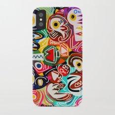 Life is beautiful street art graffiti iPhone X Slim Case