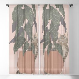 tiger at heart Sheer Curtain