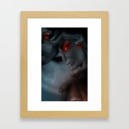 Medusa's Lament, the Eye of the Gorgon Framed Art Print