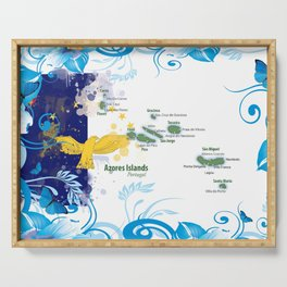 Azores Flag Serving Tray