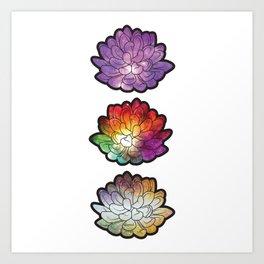 Galaxy Succulents Art Print