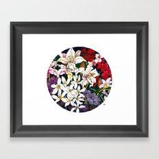 Lilies & Orchids Framed Art Print