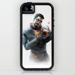 Gordon Freeman and Lamarr iPhone Case
