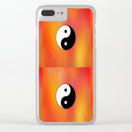 Yin and Yang 5 - Tao,Zen,Taoism,Dao,Harmony,religion,buddhism,buddhist,taijitu,taiji,taoist,china Clear iPhone Case