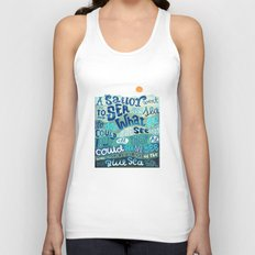 A Sailor went To Sea Unisex Tank Top