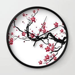 Chery blossoms Wall Clock