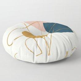 Minimal Abstract Shapes No.46 Floor Pillow