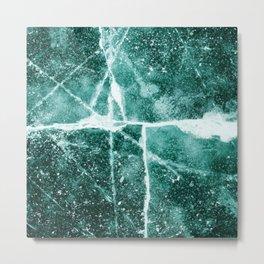 Emerald Ice Metal Print