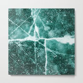 Emerald Ice Metal Print