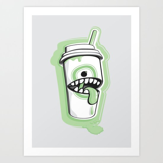 Latte Ghost Art Print