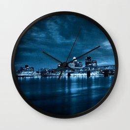 Skyline of Louisville Kentucky Wall Clock