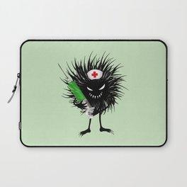 Evil Bug Nurse With Syringe Laptop Sleeve