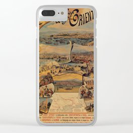 Oriental railways to Constantinople Clear iPhone Case