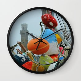 Pilgrim Monument and Buoys Wall Clock