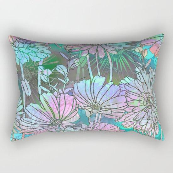 Spring Meadow Pattern Rectangular Pillow