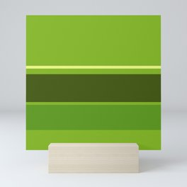 A fashionable amalgam of Sap Green, Yellowish Tan, Dark Lemon Lime and Army Green stripes. Mini Art Print