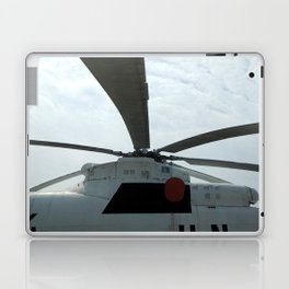 Helicopters are at the civil and military airfield Laptop & iPad Skin