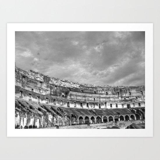Inside of the Colosseum Art Print