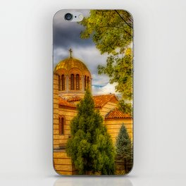 Autumn at Holy Cross Greek iPhone Skin