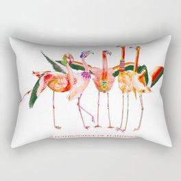 A Flamboyance of Flamingos Rectangular Pillow